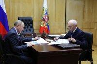Владимир Путин Рөстәм Хәмитов менән осрашты