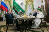 Владимир Путин Рәсәй мосолмандарының Үҙәк Диниә назараты рәйесе Тәлғәт Тажетдин менән осрашты